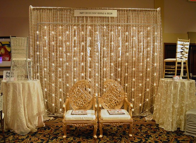 Party decor at the today 39 s bride bridal show best bridal for Decoration vendors