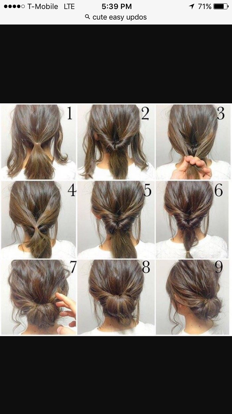 Easy Everyday Updo Long Hair Styles Hair Updos Tutorials Hair Styles