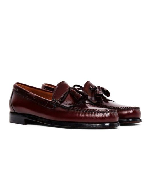 G.H. Bass & Co. Weejuns Tassle Loafers Burgundy | Look