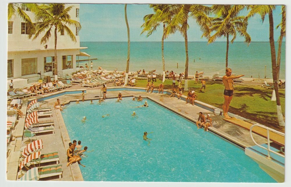 Caribbean Hotel Pool Cabana Club Miami