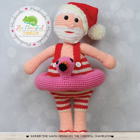 Summer Santa Crochet Santa Tropical Santa Amigurumi   CROCHET ...