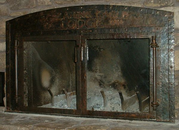 Forged Fireplace Doors Rustic Firplace Screens Pinterest
