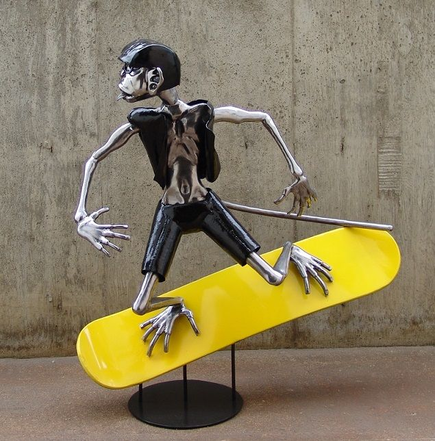 Surfing Surfer Sculpture Statue