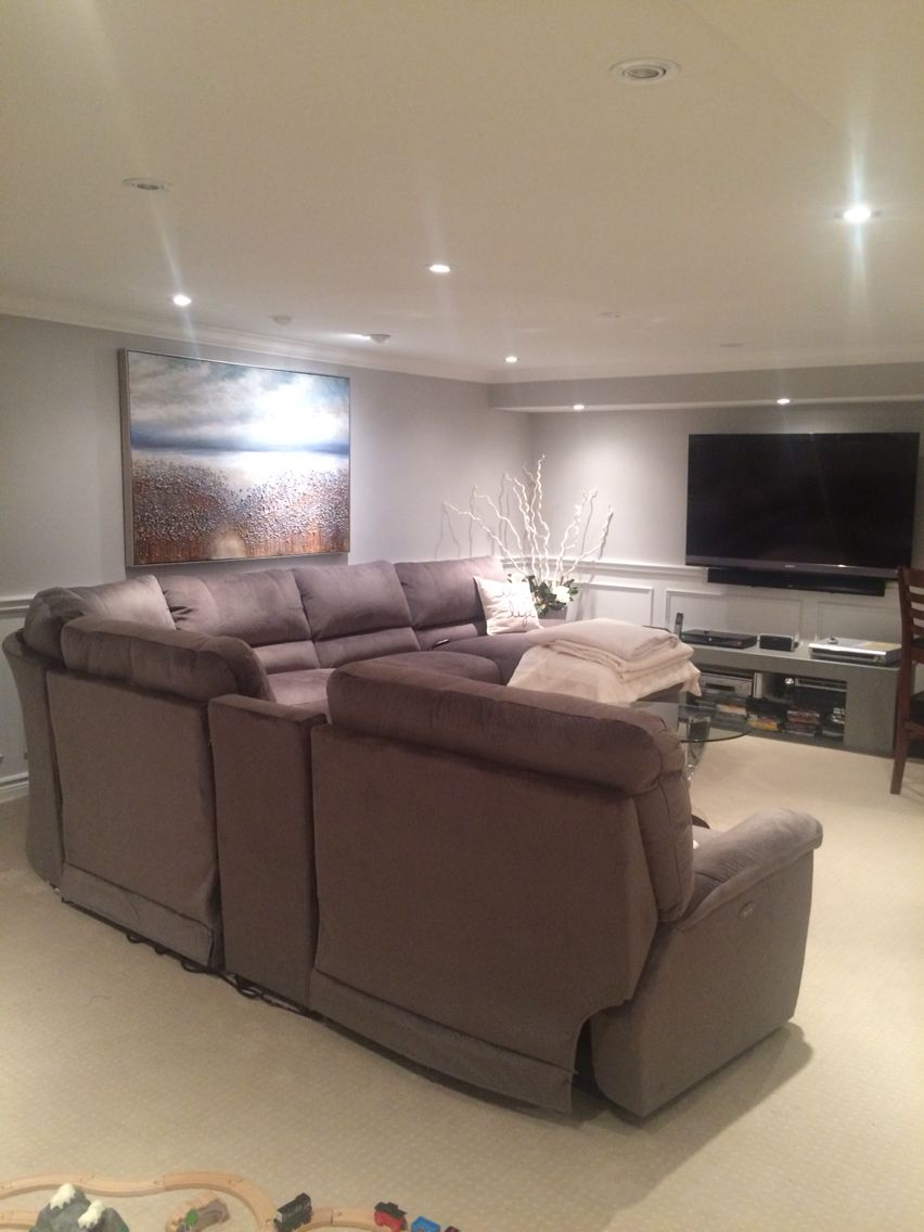 Finished Project Lazy Boy Aspen Sectional Family Room Furniture
