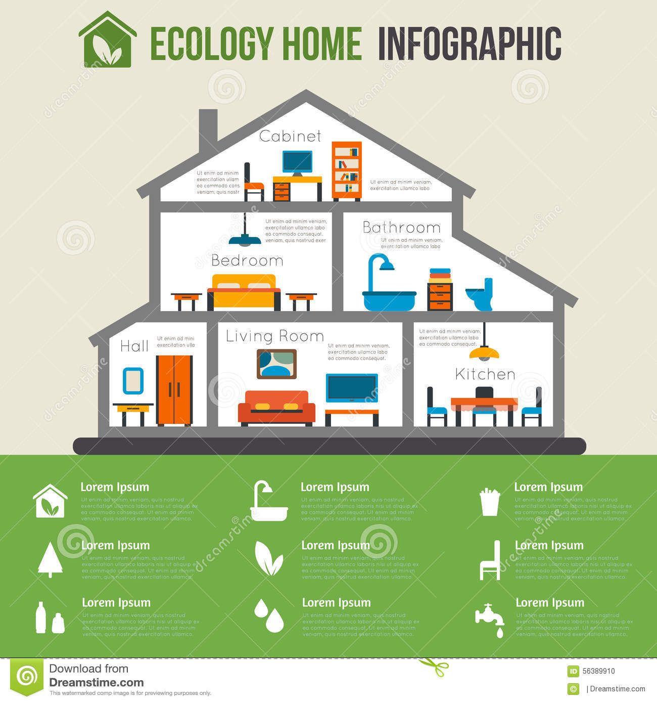 eco-friendly-home-infographic-ecology-green-house-house-cut-detailed-modern-house-interior-rooms-furniture-flat-style-56389910.jpg (1300×1390)