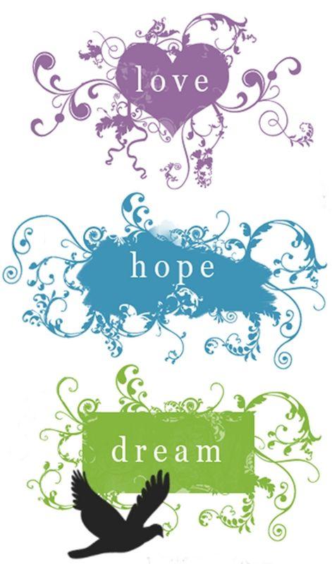 Dream Love Purple Hope