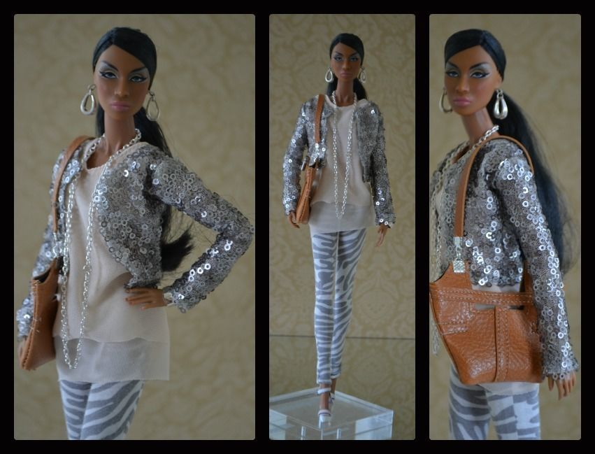 """Tess-Creations  ooak outfit for Fashion royalty!  """"Sheer impact"""""""