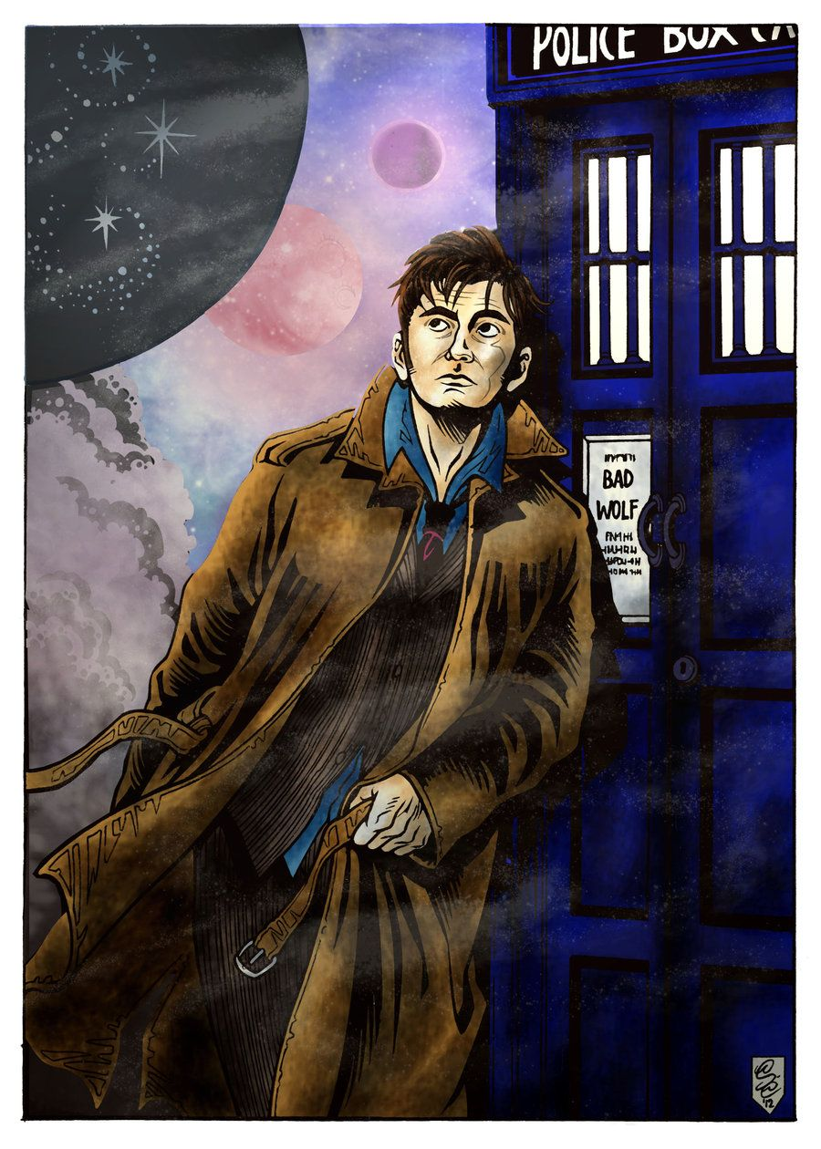 Doctor Who deviantART | Doctor Who (10th Doctor- color) by ~thewitchspell on deviantART
