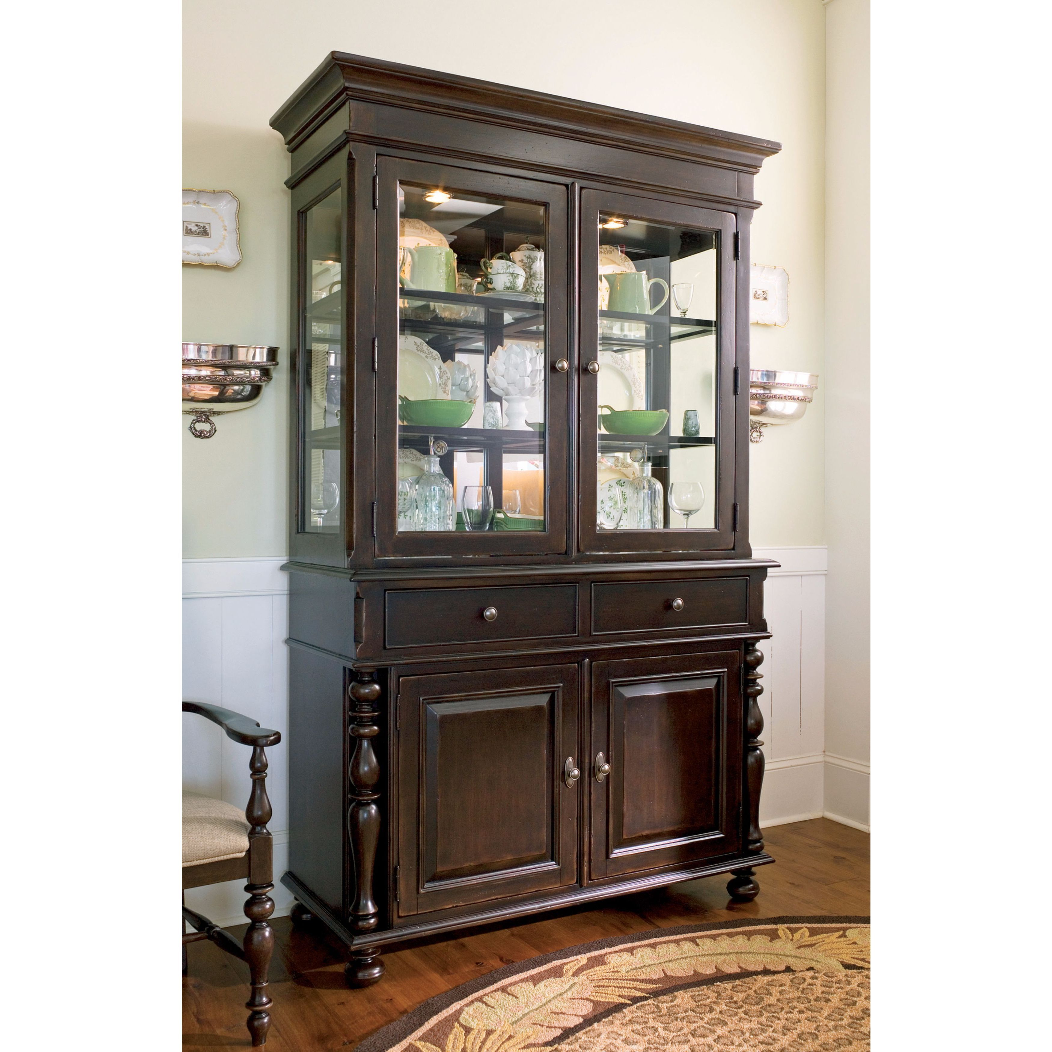 Paula Deen Home China Buffet Hutch Complete In Tobacco Finish Simple Dining Room Buffet Hutch 2018