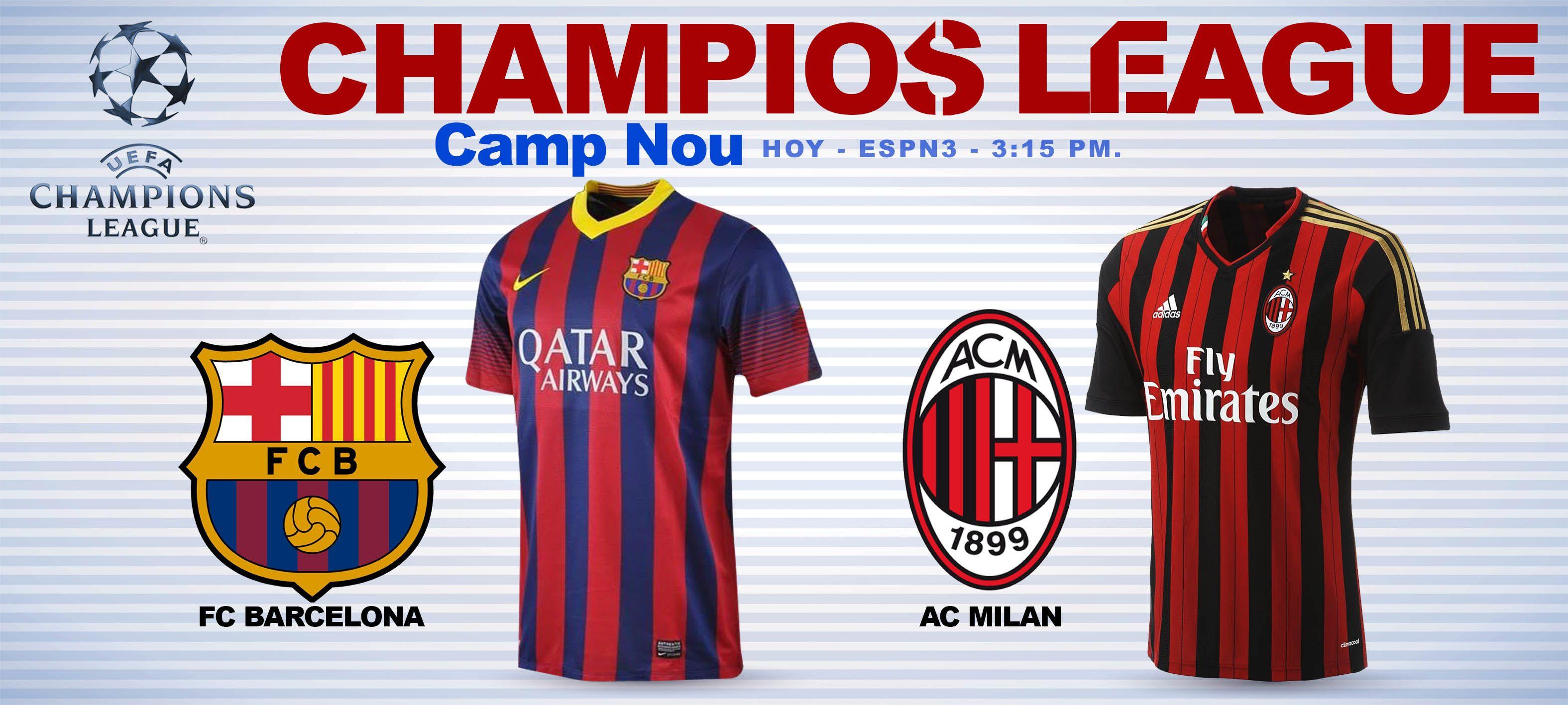 UEFAChampionsLeague FCBarcelona ACMilan Camp Nou