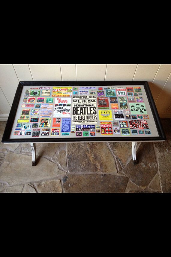 Antique Beatles Collage Coffee Table By Marisa1111 On Etsy