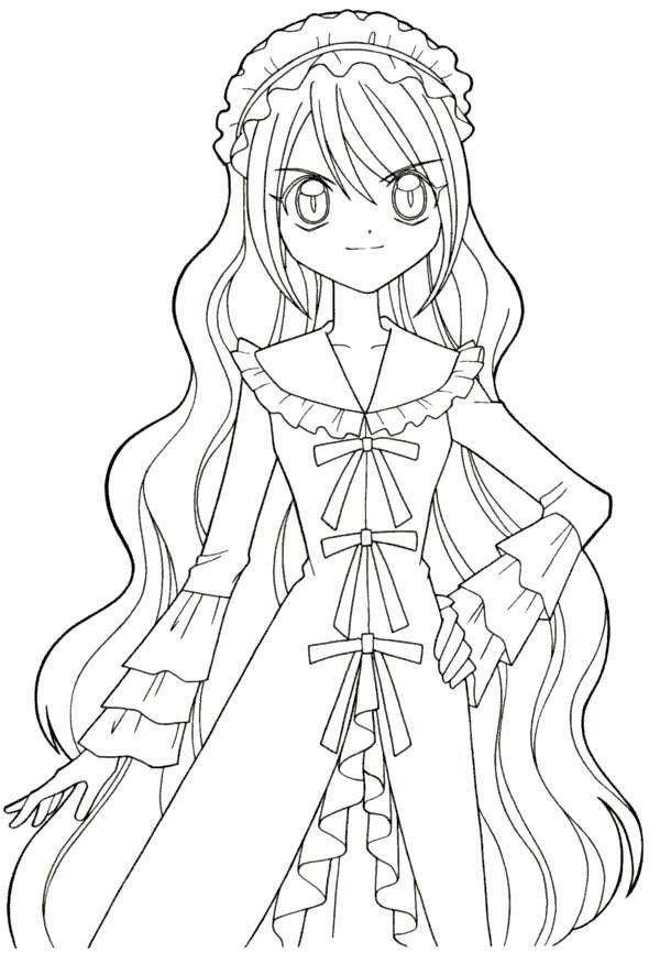 Free printable Anime Coloring Pages Mermaid Melody T mu