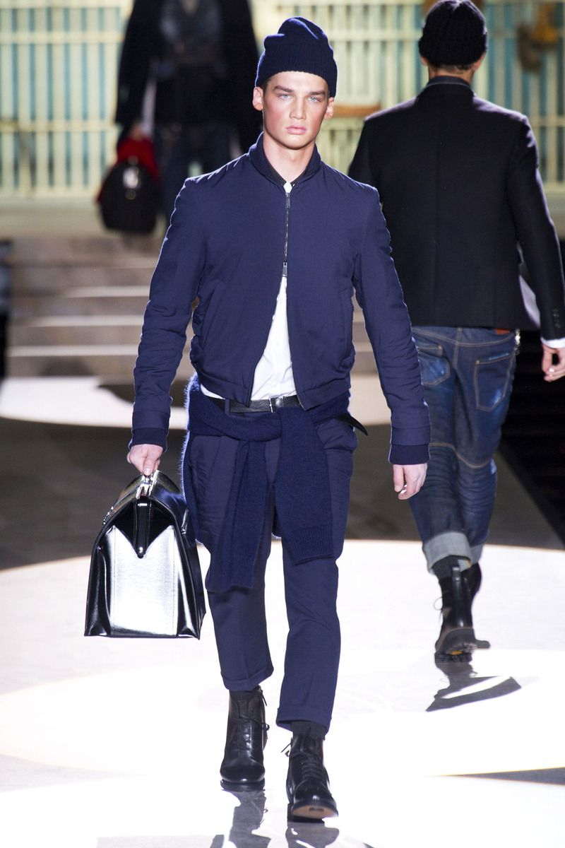 DSQUARED2 Collection Fall 2014 look 8 love this. Super clean look.