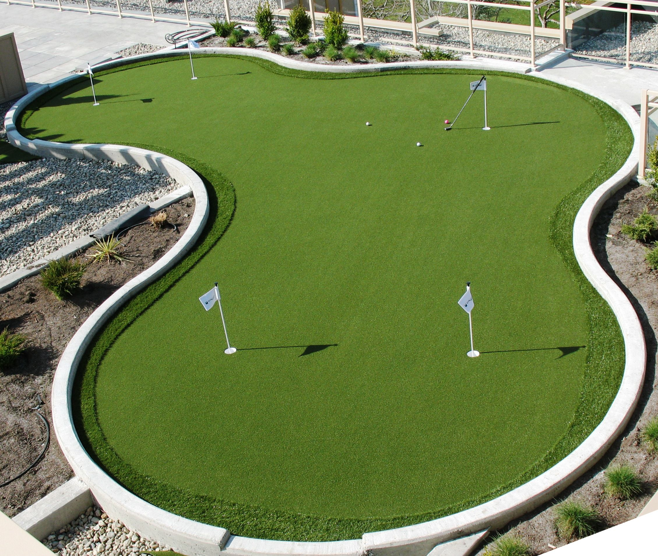 We specialize in creating #putting greens for backyards ... on Small Backyard Putting Green id=97376