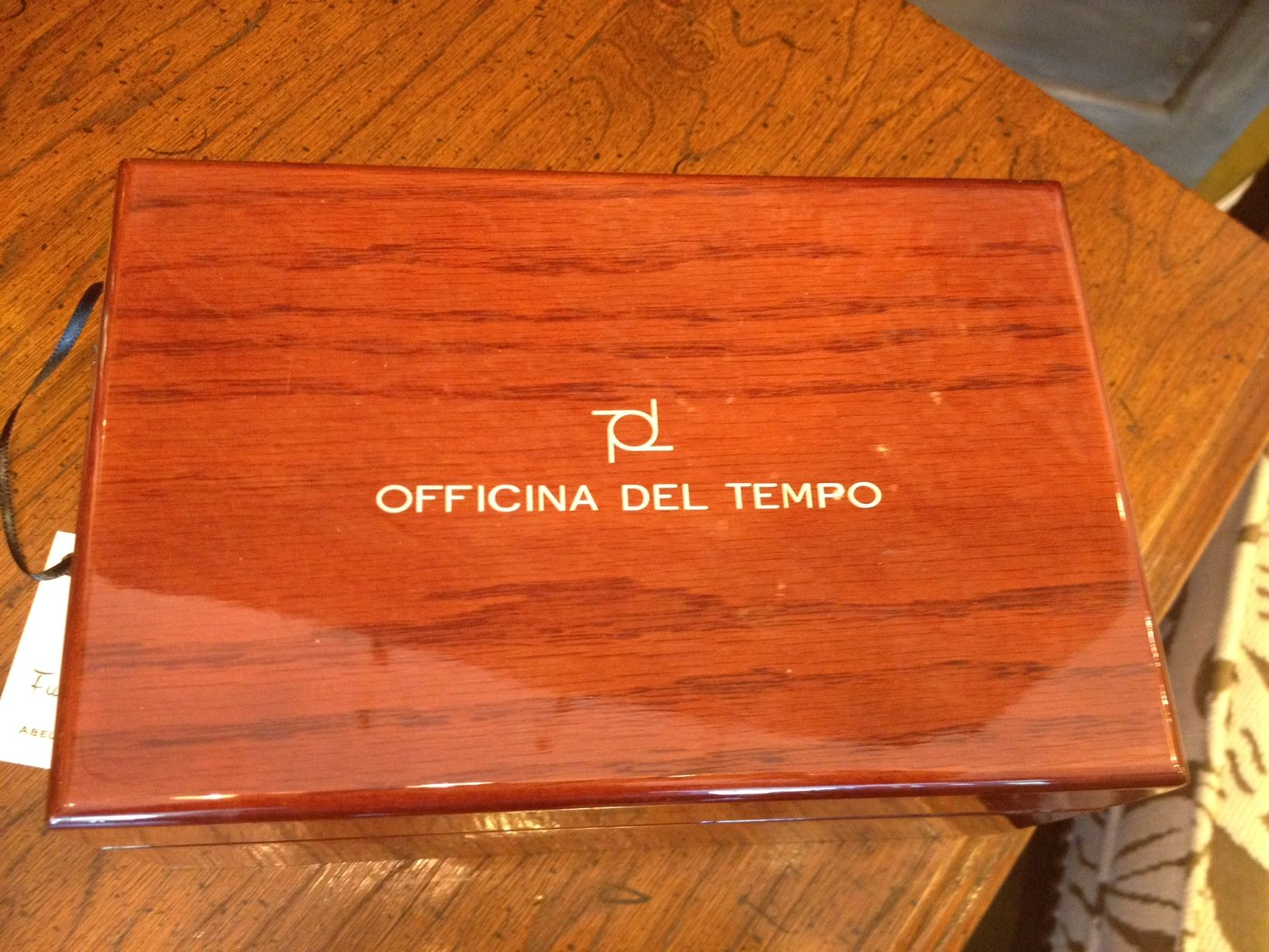 Officina Del Tempo Watch Box.  For sales inquiries, please email abelcathy@aol.com  www.cathyabelomalleyinteriors.com