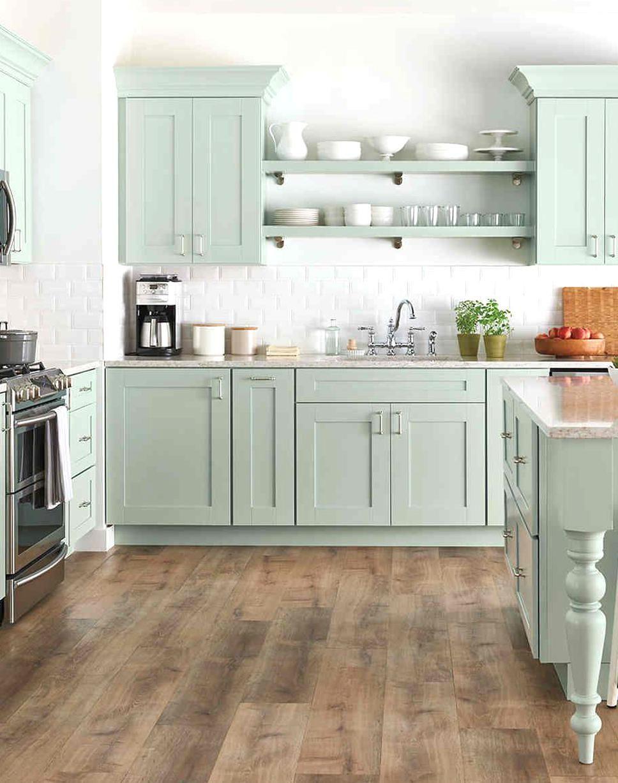 Kitchen Color Ideas Pistachio Color In Interior Design In 2020 Distressed Kitchen Cabinets Kitchen Cabinets For Sale New Kitchen Cabinets