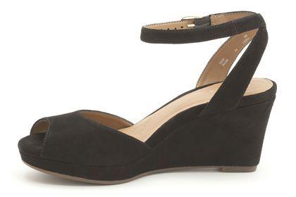 Klassische schwarze Keilabsatz-Schuhe aus Nubukleder, Clarks Palmdale Cool, 99,95 Euro: http://www.clarks.de/p/20358200 #FS14