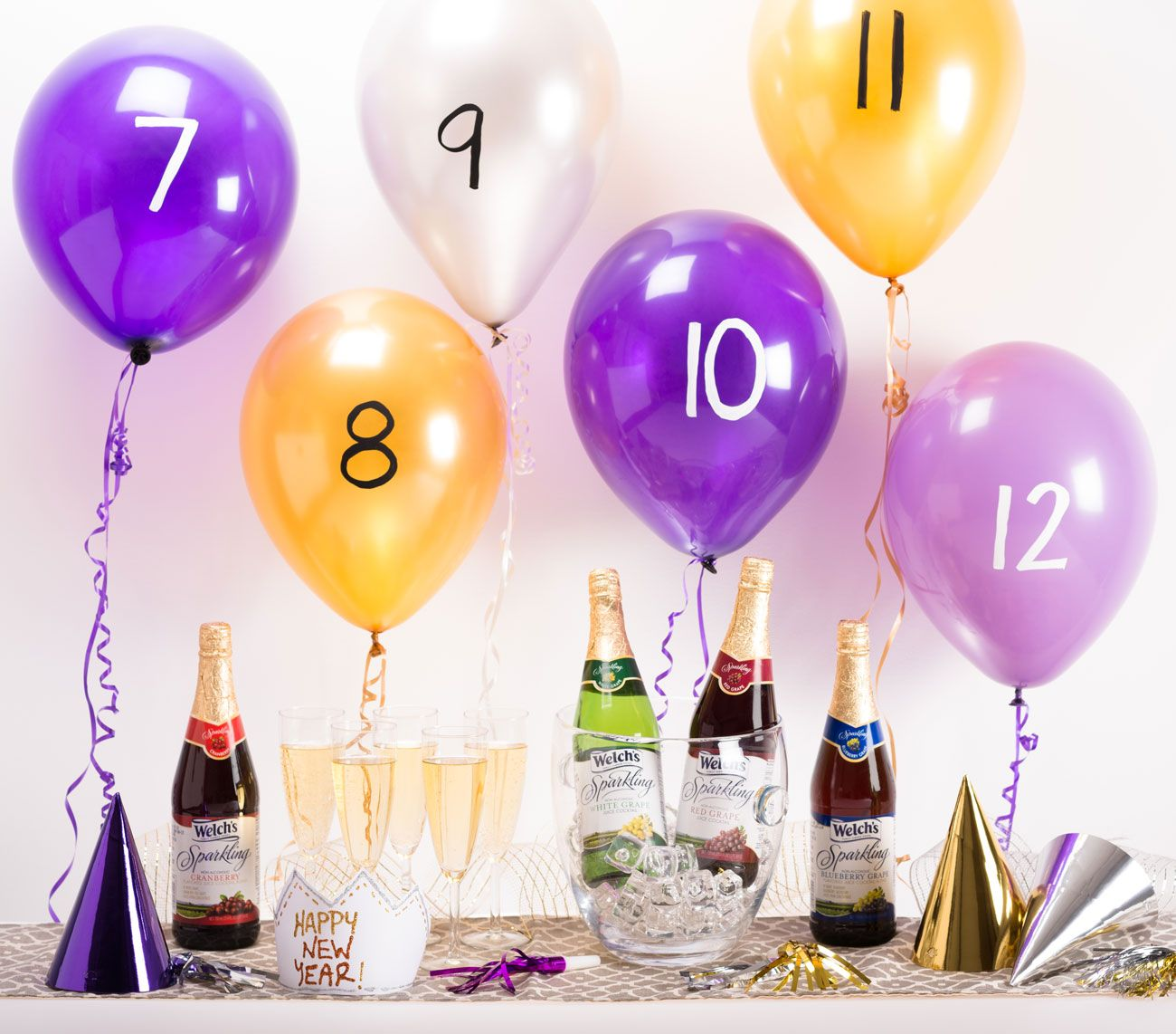 Fun New Year's Eve countdown activity pop a balloon at