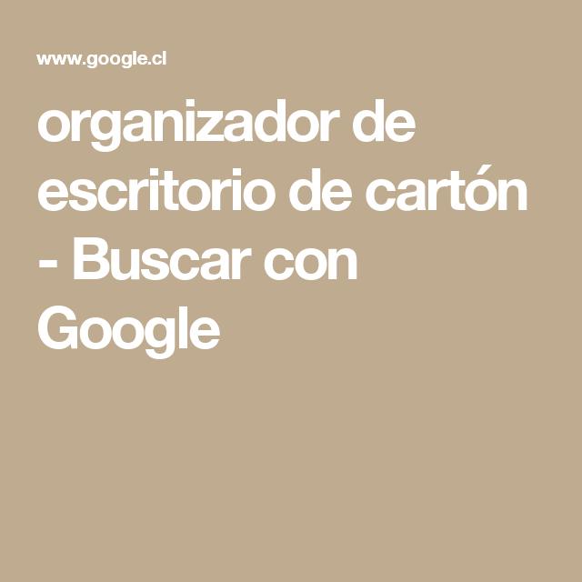 organizador de escritorio de cartón - Buscar con Google