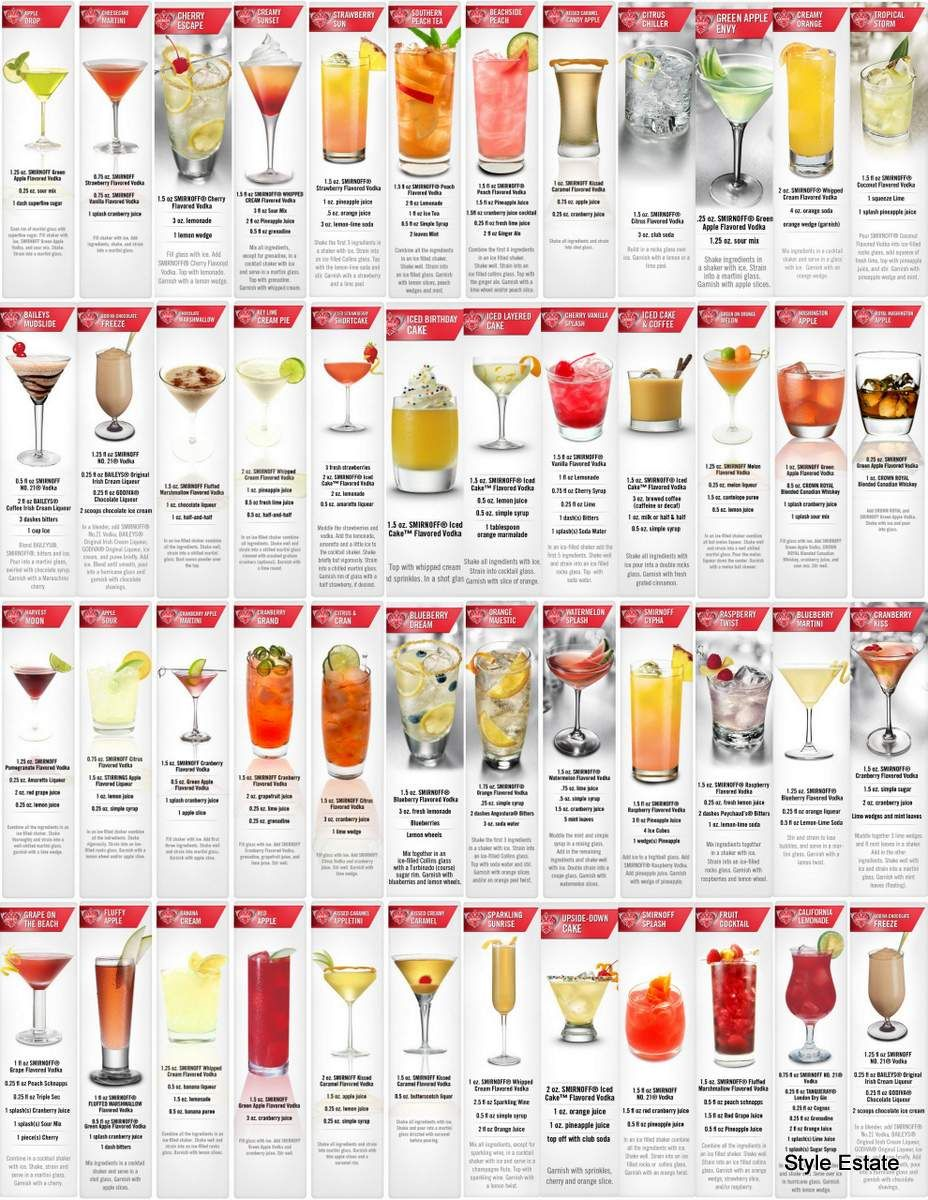 50 tasty smirnoff recipes smirnoff tasty and 50th for Names of mix drinks