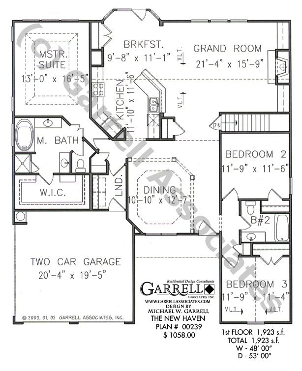 Highlighting This Ranch Style House Plan The Grand Room Is