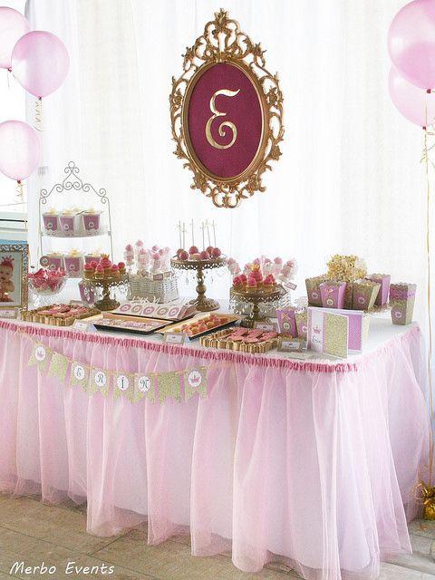 fiesta princesas mesa dulce princesas