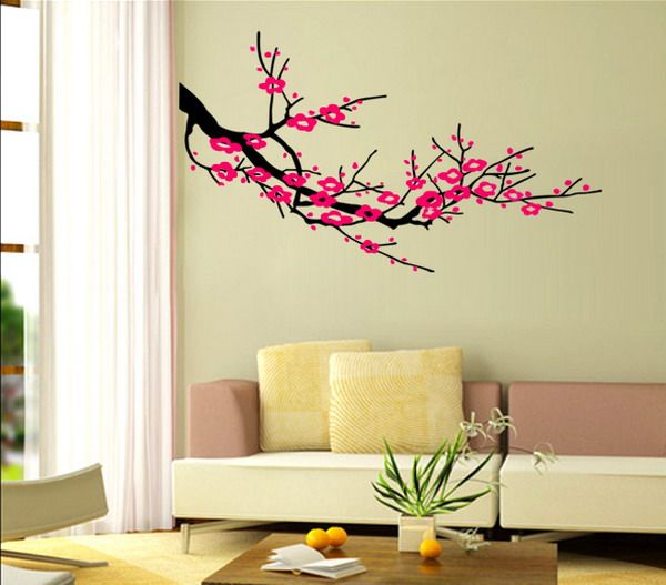 Wall decor with paintings  paints. I d like to adapt something similar for a family tree art project