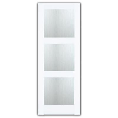 Milette   30X80 3 Lite Shaker French Door Primed With Joel Berman Designed Aqui Privacy Glass   Home Depot Canada