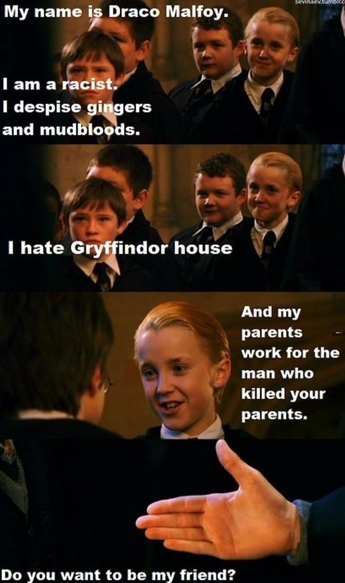 Pin By Katelyn Lee On Funny Things Harry Potter Draco Malfoy Draco Malfoy Funny Harry Potter Friendship