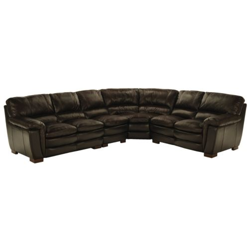 Smythe 4 Piece Leather Sectional | HOM Furniture  sc 1 st  Pinterest : hom furniture sectionals - Sectionals, Sofas & Couches