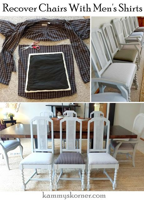 How To Recover Dining Room Chairs Alluring Kammy's Korner Recovering Dining Room Chairs With Men's Dress Design Inspiration
