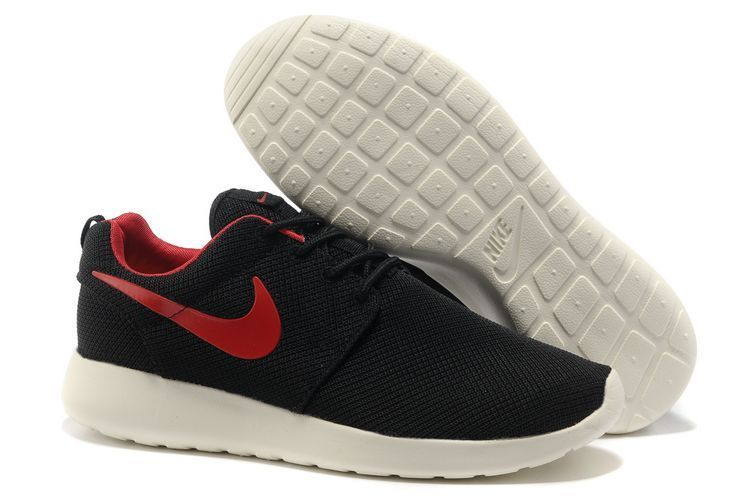 nike roshe run mens black and red nz