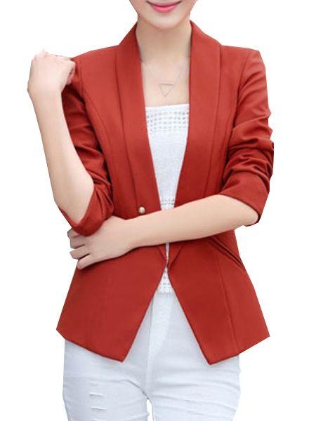 Elegant V Neck Plain Blazers Only $46.95 USD More info...