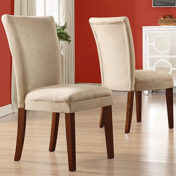 With their elegant microfiber upholstery and warm cherry for Inspire q dining room chairs