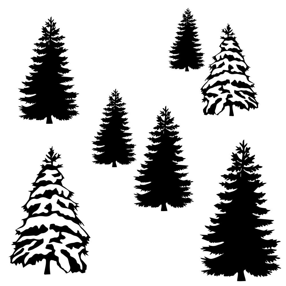 Download craftables - Free Winter Trees SVG Cut File, $0.00 (https ...