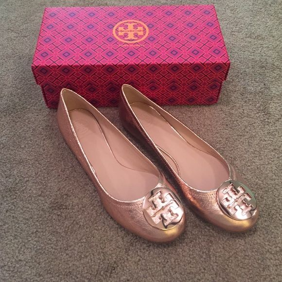 e3a5cdc7b84cdc Tory Burch Reva flats in Rose Gold Gorgeous! NIB. Never worn. 100% authentic.  Size 9.5. No trades Thanks. Tory Burch Shoes Flats   Loafers