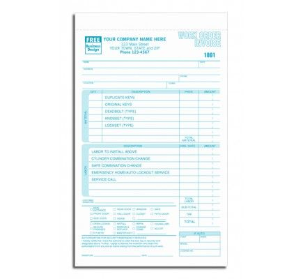 Work Orders for Locksmith 248 Say goodbye to cumbersome carbon - work order form