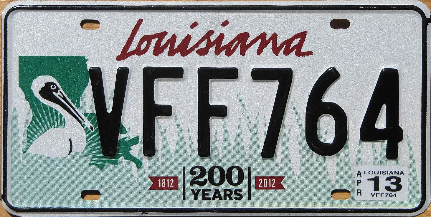 This is what my License plate looks like!!! | Louisiana | Pinterest ...