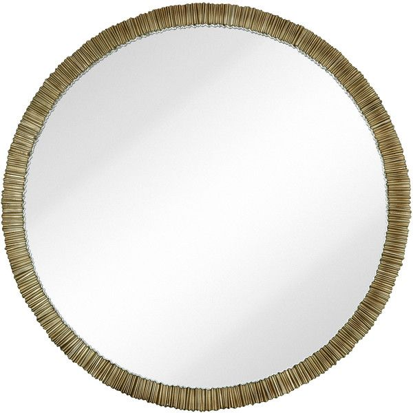 Simple Circular Textured Framed Glass Wall Mirror ($220) ❤ liked on ...