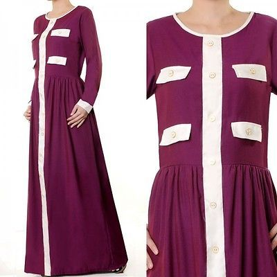 plus size maxi dress abaya muslim dress long sleeve dress casual dress