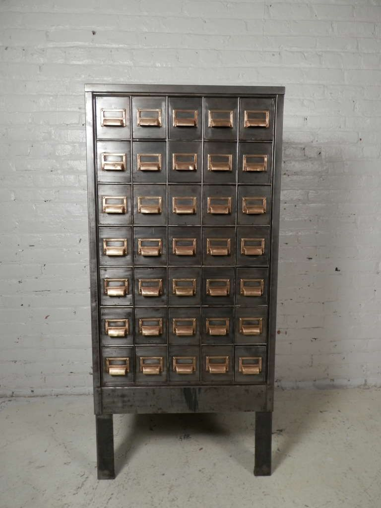 Superb Heavy Duty Metal Card Catalog Cabinet