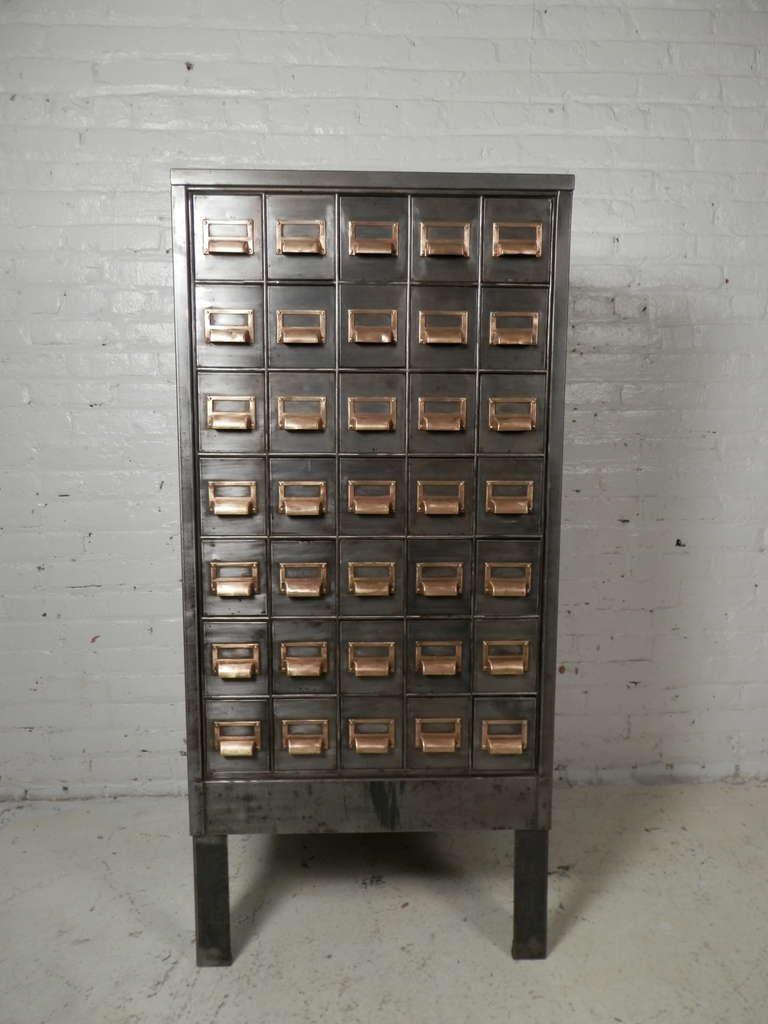 Superb Heavy Duty Metal Card Catalog Cabinet