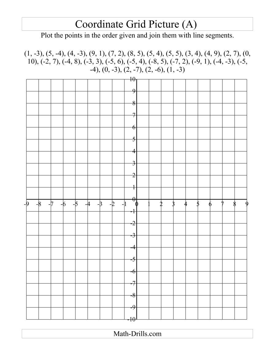 The Plotting Coordinate Points Art -- Red Maple Leaf (A) math worksheet  page 2   Coordinate plane worksheets [ 1165 x 900 Pixel ]
