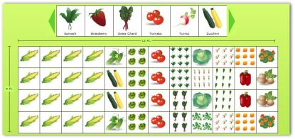 Use our free online vegetable garden planner to design a for Vegetable garden box layout