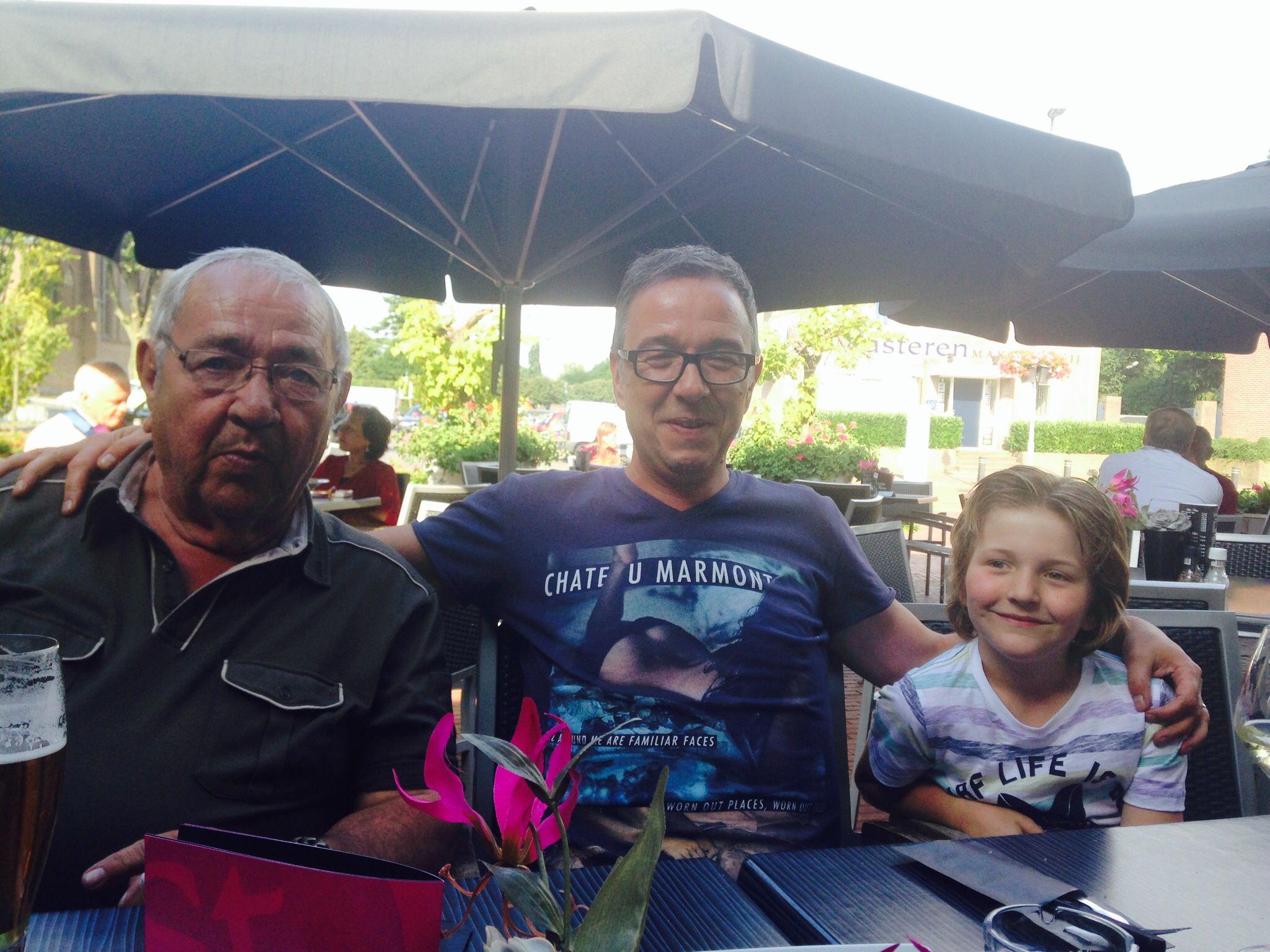 Opa en papa en ik