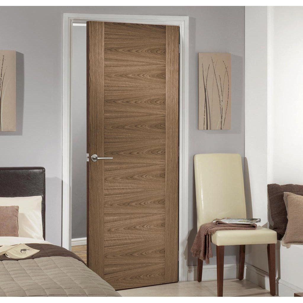 Sofia Walnut Veneer Fire Door 1 2 Hour Fire Rated Prefinished Walnut Doors Fire Doors Doors Interior
