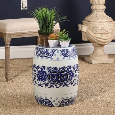 Miraculous Song Chinese Ceramic Garden Stool Blue Abbyson Living In Lamtechconsult Wood Chair Design Ideas Lamtechconsultcom