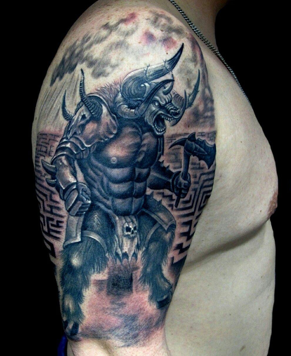 Minotauro tattoo ivan de loayza tattoo pinterest for Marmol significado