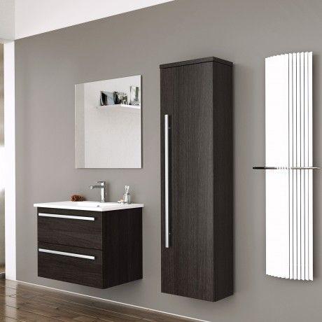 Albero Design Trento Waschtisch mit Unterschrank 61cm, eiche dunkel - badezimmer waschbecken mit unterschrank
