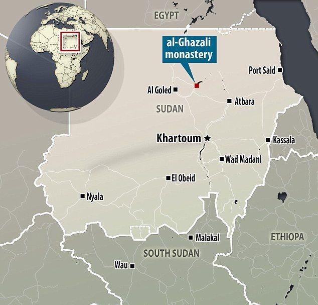The four cemeteries were located near the Al-Ghazali monastery in Sudan